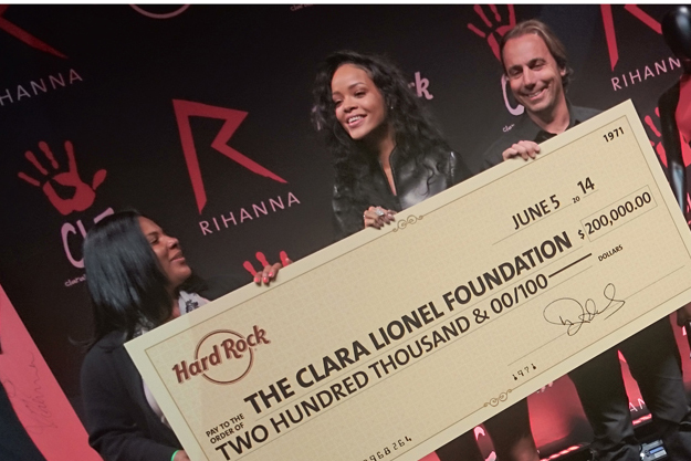 RIHANNA x HARD ROCK INTERNATIONAL x CLARA LIONEL FOUNDATION