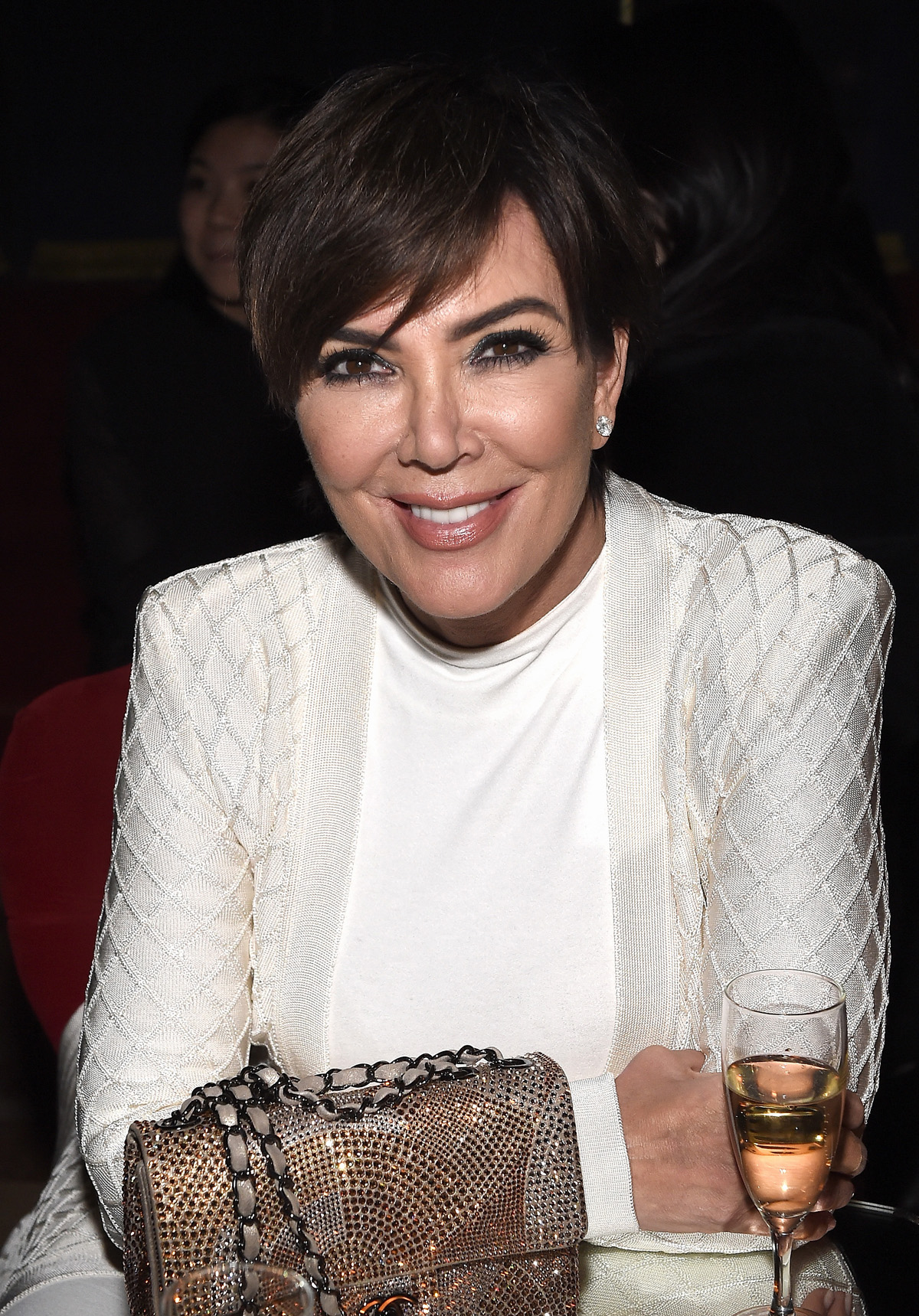 """PARIS, FRANCE - MARCH 03: Kris Jenner attends Balmain Aftershow Party as part of Paris Fashion Week Womenswear Automn/Winter 2016 at Restaurant Laperouse on March 3, 2016 in Paris, France. (Photo by Jacopo Raule/WireImage)"""